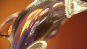 在玻璃的议院装饰片断 股票视频