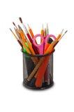 在玻璃的铅笔 免版税库存图片