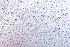 在玻璃的雨下落 图库摄影