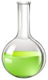 在玻璃管的绿色液体 库存例证
