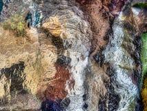 在玻璃,抽象背景的模糊的样式 免版税库存照片