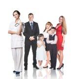 在医生任命的家庭 库存照片