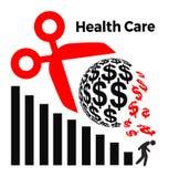 在医疗保健消费的裁减 库存照片