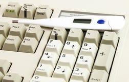 在医疗工作的键盘 免版税库存照片