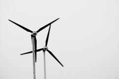 在黑白照片的抽象风轮机 图库摄影