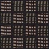 在黑白照片的无缝的抽象纹理传染媒介样式破折号线 免版税库存图片