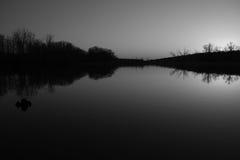 在黑白照片的日落 免版税图库摄影