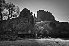在黑白照片的Sedona 免版税库存照片