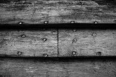 在黑白版本的板条老小船 库存图片