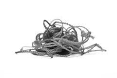 在黑白的一条绳索 库存图片
