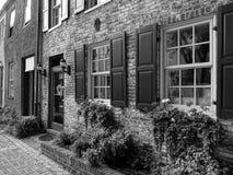 在黑白的乔治城建筑学 免版税库存照片