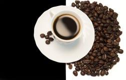 在黑白的咖啡 图库摄影