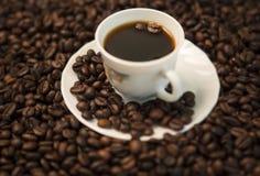在黑白的咖啡 库存照片