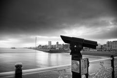 在黑白的布赖顿码头 图库摄影