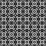 在黑白的抽象无缝的样式 库存照片