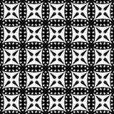 在黑白的抽象无缝的样式 免版税库存图片