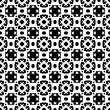 在黑白的抽象无缝的样式 图库摄影
