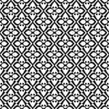 在黑白的抽象无缝的样式 免版税库存照片