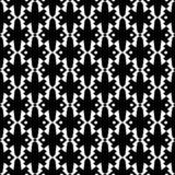 在黑白的抽象无缝的样式 免版税图库摄影