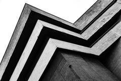 在黑白的抽象建筑片段 图库摄影