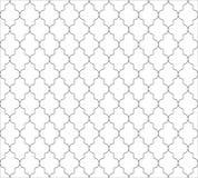 在黑白的摩洛哥伊斯兰教的无缝的样式背景 葡萄酒和减速火箭的抽象装饰设计 简单 向量例证