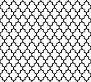 在黑白的摩洛哥伊斯兰教的无缝的样式背景 葡萄酒和减速火箭的抽象装饰设计 简单 皇族释放例证