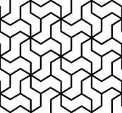 在黑白的无缝的几何纹理背景 免版税库存照片