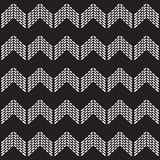 在黑白的无缝的当地样式V形臂章瓦片 库存图片