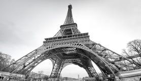 在黑白的游览埃菲尔 免版税图库摄影