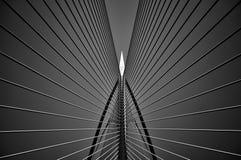 在黑白的Seri Wawasan桥梁 库存照片