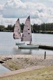 在水的两条风船 图库摄影