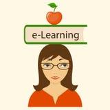 在头的书电子教学 向量例证