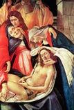 在死的基督,特写镜头的悲叹 免版税库存图片