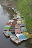 在水的小船 库存图片