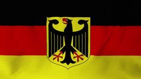 在1的挥动的德国旗子2 库存例证