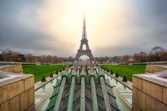 在巴黎的日出 免版税库存图片