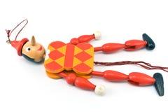 在绳索的机械玩具 库存照片