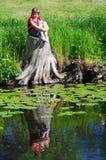 在水的焦点 免版税图库摄影