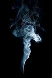 在黑#3的白色烟 免版税图库摄影