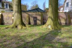 在死的老公墓纪念品的毛特豪森纪念品在希尔弗萨姆 免版税库存图片