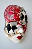 在轻的背景的威尼斯面具 免版税库存照片