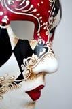 在轻的背景的威尼斯面具 图库摄影