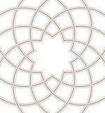 在轻的背景,圆的方形的设计里面的伊斯兰教的圆顶 免版税库存照片