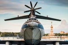 在水的航空器 免版税库存照片