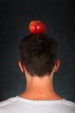 在头的苹果计算机 免版税库存图片