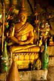 在洞的菩萨雕象 免版税图库摄影
