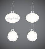 在轻的设计的简单的装饰徽章 库存照片