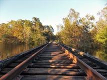 在水的铁路 免版税图库摄影