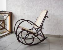 在轻的阳台的摇椅 库存照片