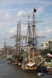 在水的高船在贝城密执安 库存图片